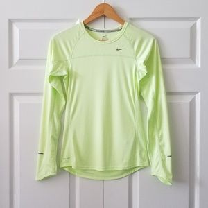 Nike Running Dri-Fit Neon Yellow Tee | XS